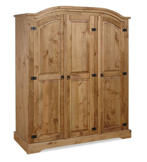 Pine 3 Door Wardrobe by Mexican Pine 3 Door Wardrobe For Sale In Swords Dublin