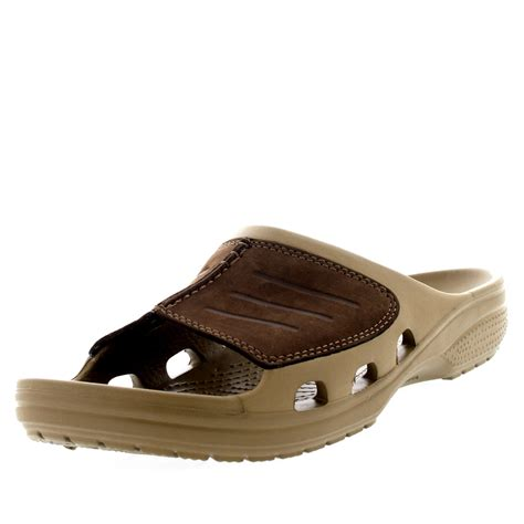 mens lightweight sandals mens crocs yukon mesa slide lightweight slip on open