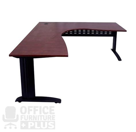 Rapid Furniture by Rapid Manager Corner Workstation Desk With Black Span Base