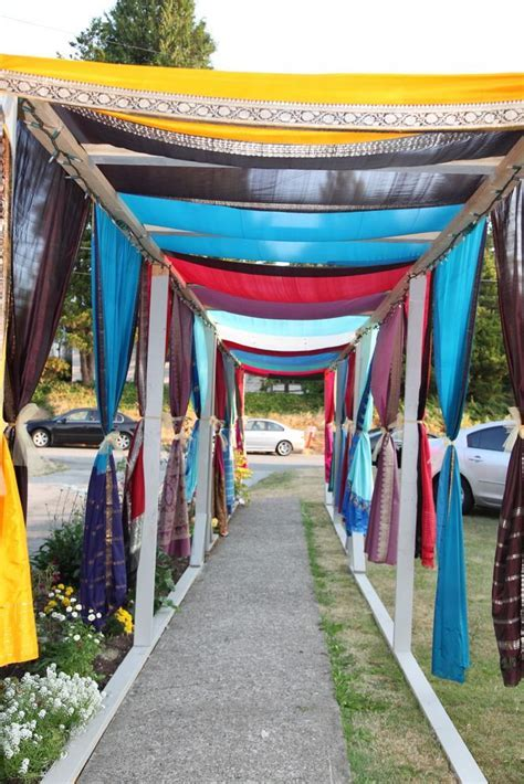 Indian wedding   outdoor walkway at wedding house