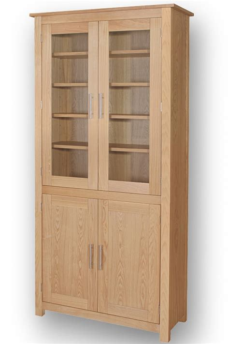 home office ash glazed cupboard bookcase oak furniture