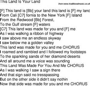 This Is Lyrics Time Song Lyrics With Guitar Chords For This Land Is