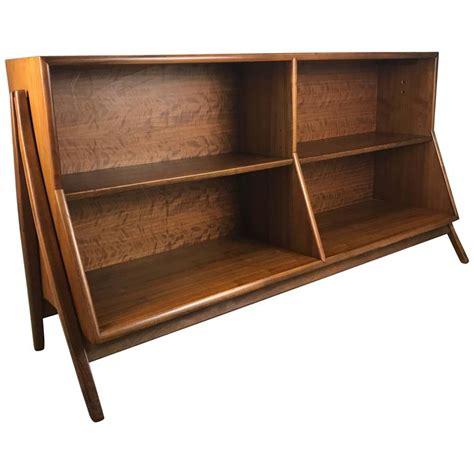 mid century bookcase mid century modern architectural walnut bookcase by kipp