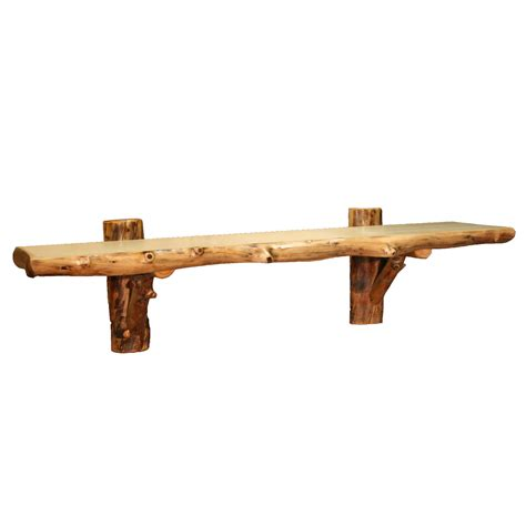 wall shelf aspen log furniture 48 inch aspen wall shelf black forest