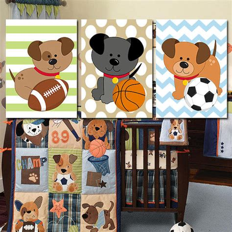 puppy nursery theme dogs wall puppy nursery sports boy from trm design wall