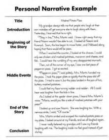 Narrative Reflective Essay Topics by Personal Narrative Essay Sle 5th Grade Writing Ideas Graphic Organizers