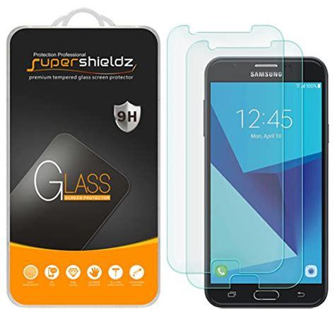 Tempered Glass Screen Samsung J7 Plus Black Anti Gores Kaca 2 pack supershieldz for samsung quot galaxy j7 perx quot tempered glass screen protector anti scratch