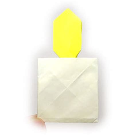 origami candle how to make a 2d origami candle page 1
