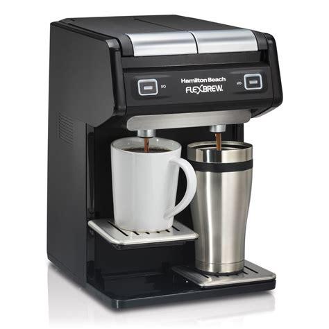 Hamilton Beach Dual FlexBrew Single Serve K Cup or Grounds Coffee Maker   49998   eBay