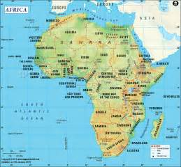 Countries In Africa Map by Africa Map Free Large Images