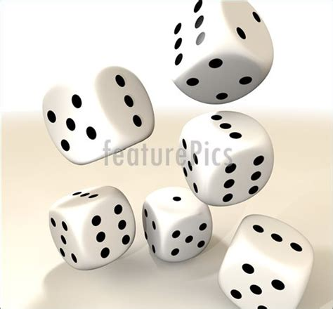 printable dice spots games and gambling six white casino dice stock