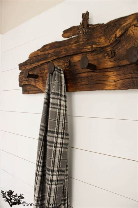 Railway Coat Rack how to make a coat rack with railroad spikes woodworking