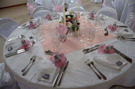 theme mariage rose et argent mariage en rose gris et argent d 233 co de table pink