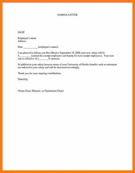 salary increase letter template employer