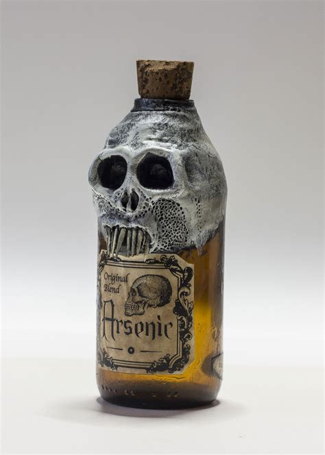 skull arsenic poison bottle vintage pirate by fraterorion
