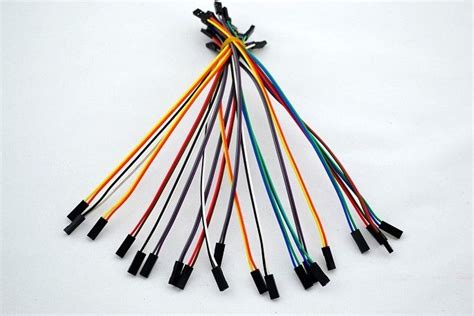 Jumper Cable Dupont 10cm Isi 20 Murah 20pcs 2pin 20cm 2 54mm to jumper wire dupont cable for arduino ebay