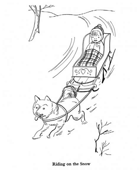 coloring pages of dog sledding winter sledding printables hubpages
