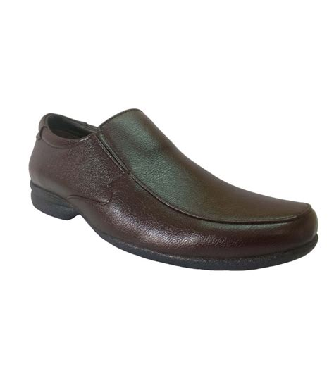 bata brown leather slip on shoes for price in india