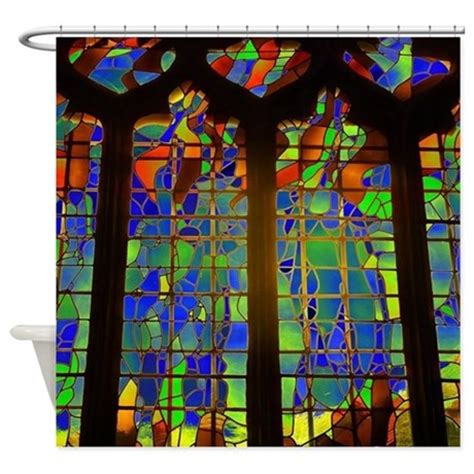 Stained Glass Shower Curtain by Technicolor Stained Glass Shower Curtain By Housebeautiful