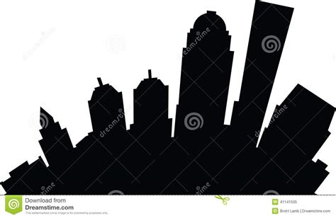 Louisville Ky Skyline Outline by Louisville Stock Illustration Image Of Business 41141505