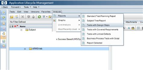 hp alm report templates how to export the test cases with design steps from test