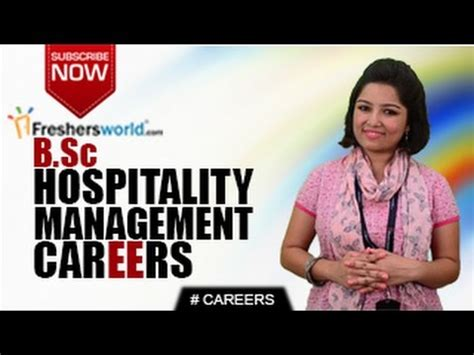 Career Opportunities Mba Hospitality Management by Careers In B Sc Hospitality Management Degree Bhm Bba
