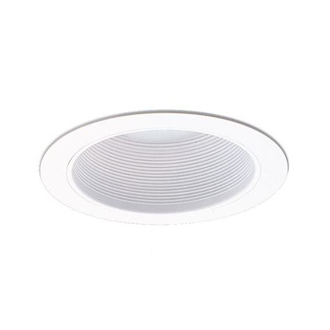 nicor 6 in white recessed baffle trim for sloped ceiling