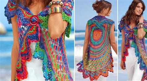 chaleco redondo crochet patron a chaleco redondo al crochet con patrones manualidades y