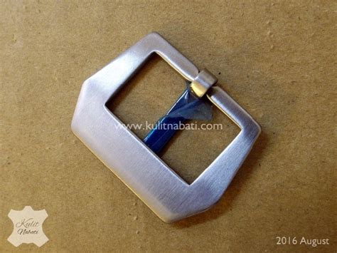 Pin Buckle Jam Tangan Silver Stainless Steel Brushed Finishing buckle jam str 034 kulitnabati bahan kulit nabati