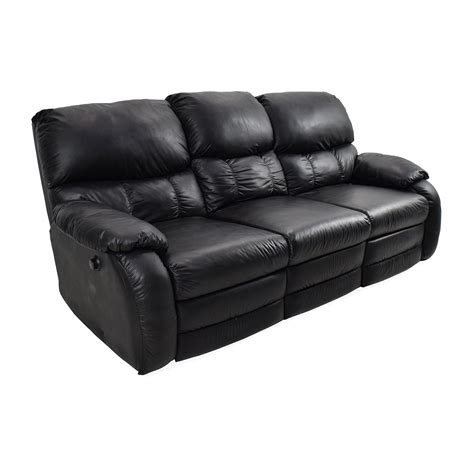 68 Off Black Leather Reclining Couch Sofas Black Leather Reclining Sofas