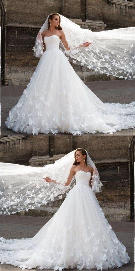 beautiful wedding dresses  long train  prettylady