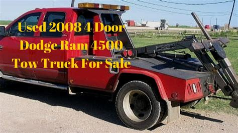 2008 dodge 4500 for sale used 2008 4 door dodge ram 4500 tow truck for sale