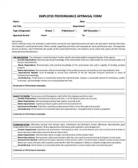simple appraisal forms 22 free documents in word pdf