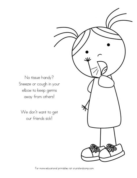 preschool germ coloring pages no more spreading germs coloring pages for kids colors