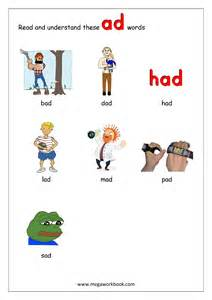 free english worksheets words reading rhyming