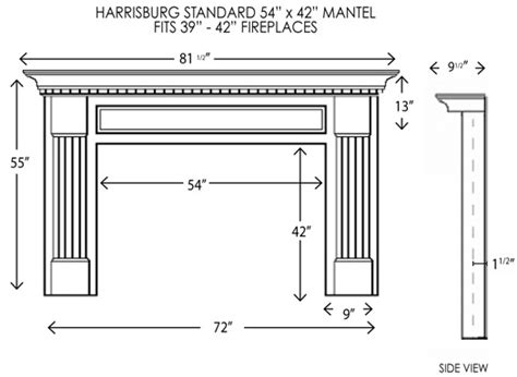 standard mantel height harrisburg standard size mantel fireplace mantel