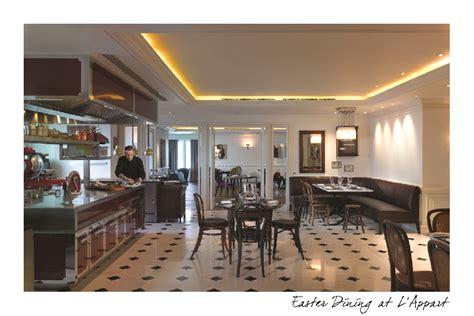 l appart sofitel sukhumvit easter dining at lappart sofitel bangkok sukhumvit at