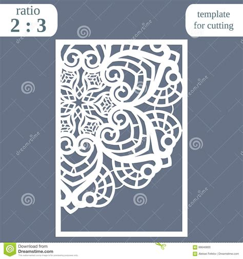 Laser Cut Wedding Card Template Paper Openwork Greeting Card Template For Cutting Lace Laser Cut L Template