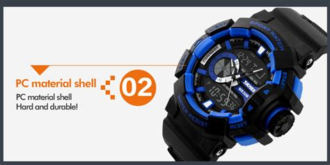 Skmei Blue Movt Sport Water Resistant 50m Ad0910 1 skmei 1117 50m water resistant luminous sports digital