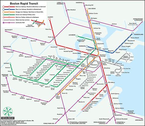 boston transit map of essex professor reconfigures mbta maps with new designs