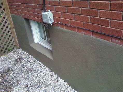 parging basement walls services four seasons landscape and contracting
