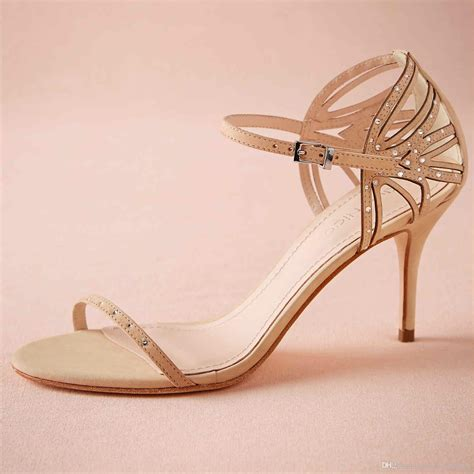 Blush Pink Bridal Shoes by Blush Pink Wedding Shoes Sandal Open Toe 2015 Pumps