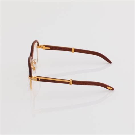 cartier half sunglasses gary with wood frame www
