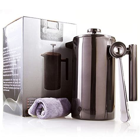 Fiorenza Tea Coffee Pot 3 Cup Coffee Plunger Press Tea Coffee 1 primula classic glass 8 cup coffee press with black handle