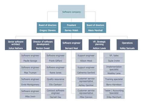 program structure chart organizational structure types