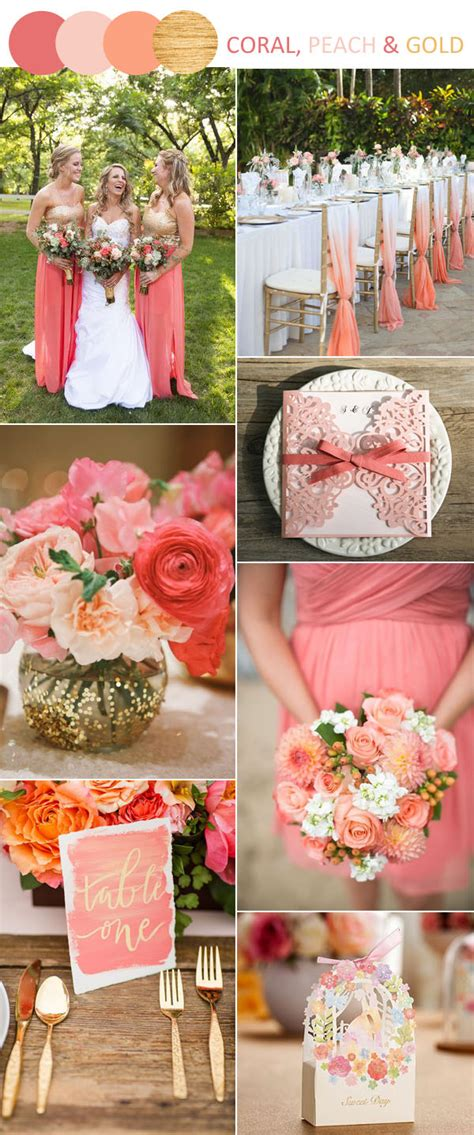 coral wedding colors 8 stunning wedding colors in shades of gold for 2017 brides