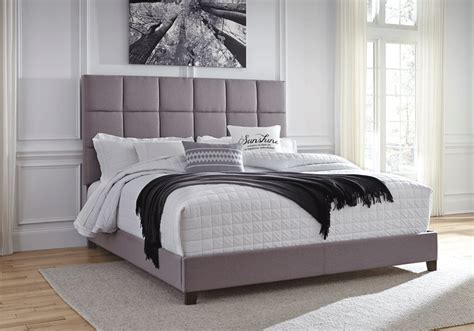 overstock upholstered bed dolante gray tufted king upholstered bed lexington