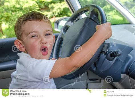 drive baby smiling and happy child royalty free stock photos image
