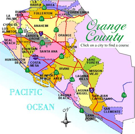 map of orange county orange county california map