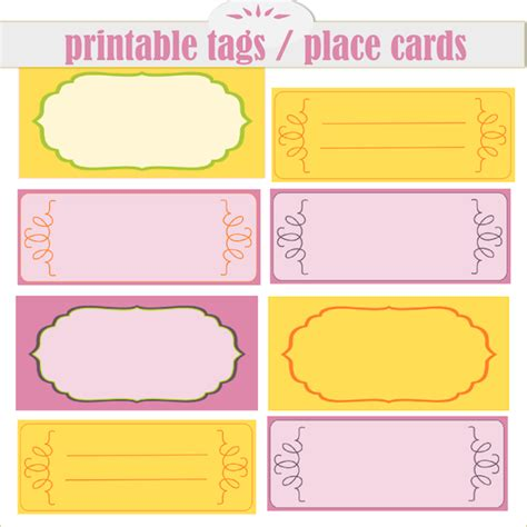 printable place cards uk free printable tags and place cards ausdruckbare